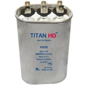 Mars Replacement Titan Hd Run Capacitor 80 5 Mfd 440 370v Oval 12297 By Titan