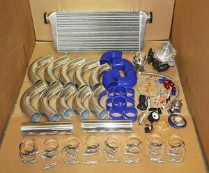 T3 T4 Turbo Turbocharger Kit Ar 63 Stage 3 Blue Civic Crx Del Sol Integra 88 00