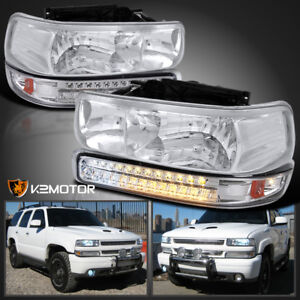 99 02 Chevy Silverado 00 06 Tahoe Suburban Headlights Led Signal Bumper Lights