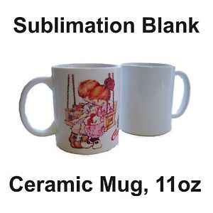 36 White Ceramic Mug Sublimation Blank 11oz Coated Premium For Heat Transfer Ink