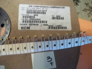 Nic Multilayer Ceramic Capacitors Ncm21x7r102k100tr 1000pf 10 100v 3000 ff6