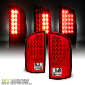 2002 2006 Dodge Ram 1500 2500 3500 Red Clear Led Tail Brake Lights Left right