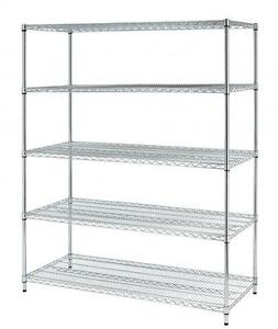 Chrome X large 5 Layer Shelf Adjustable Steel Wire Metal Shelving Rack