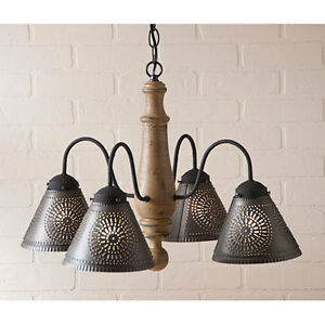 Rustic Country Wood Light Crestwood Wooden Chandelier In Americana Pearwood