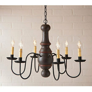Cottage Style Wood Light Maple Glenn Wooden Chandelier In Americana Espresso