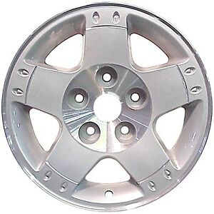 02164 Refinished 17in Wheel Fits 2003 2005 Dodge Ram 1500 Silver Flange Cut