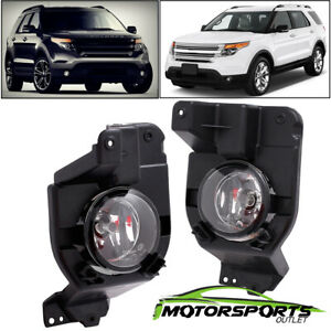 Glass Lens 2011 2012 2013 2014 2015 Ford Explorer Fog Lights Lamps Bulbs