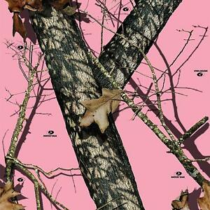 Mossy Oak Pink Air Release Wrap Vinyl Decal Matte Laminated 12 x12