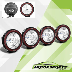4 Pcs Universal 7 Inches Built In 6000k Hid 4x4 Offroad Fog Lights For Suv Truck