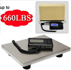 660lbs X 0 1 Lb Digital Floor Bench Scale Steel Platform For Shipping Postal Usa