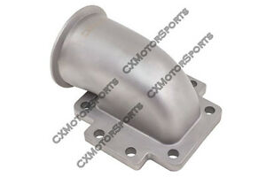 Cx T6 Turbo To 3 V Band 304 Stainless Steel 90 Degree Elbow Adapter Flange