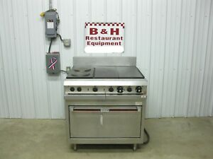 Hobart 6 Burner 2 Hot Tops 2 French Hotplates Electric Range W Oven Hcr41