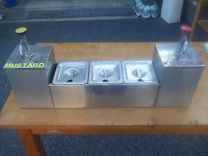 C Server Stainless Steel Table Top Condiment Holders Euc