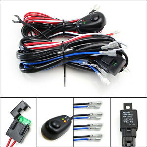 4 output Relay Harness Wire Kit Led On off Switch For Fog Lights Hid Worklamp
