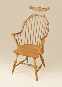 Continuous Arm Windsor Armchair With Comb Primitive Mustard Chair Dining Room