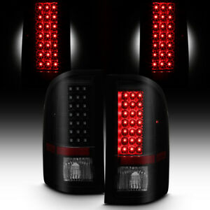 Blk Smoked 2007 2013 Chevy Silverado 1500 07 14 2500 3500 Led Tail Lights Lamps