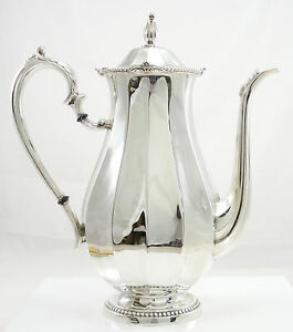 International Sterling Silver Coffee Pot 10 Cups Hollowware 9 1 4 Pattern149 01
