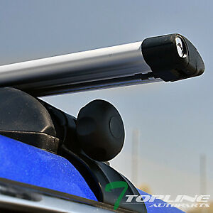 Universal 50 Silver Oval Window Frame Roof Top Rack Tube Cross Bars Carrier T32