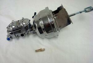 1960 1966 Chevy Truck 8 Dual Chrome Booster Bail Top Master Cylinder