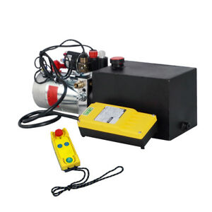 Dc 12v 6 Quart Double Acting Hydraulic Pump Power Unit Wireless Remote Control