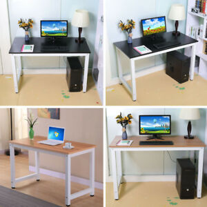 47 Wood Computer Desk Pc Laptop Study Table Workstation Home Office Furniture