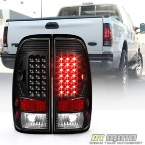 Black 1997 2003 Ford F150 99 07 F250 F350 Superduty Led Tail Lights Brake Lamps