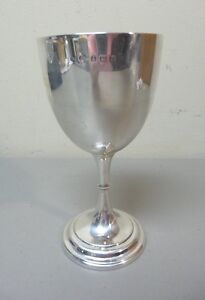 Antique English Sterling Silver Chalice Goblet Birmingham C 1905 160 Gram