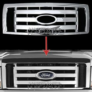 2009 2012 Ford F150 Chrome Snap On Grille Overlay Front Grill Cover Trim Insert