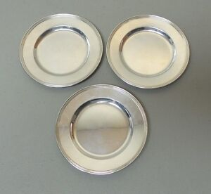 Set 3 International Lord Saybrook Sterling Silver 6 Bread Butter Plates