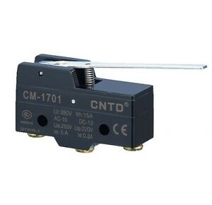 Micro Limit Switch Long Lever Arm Spdt Snap Cntd Cm 1701 Temco Heavy Duty