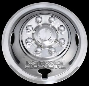 1 Front Truck Van Rv Trailer 16 Dual Wheel Simulators Rim Liner Covers Hub Caps