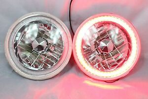 1965 1978 Ford Mustang 7 Round 6014 6015 6024 Red Led Smd Halo Headlights