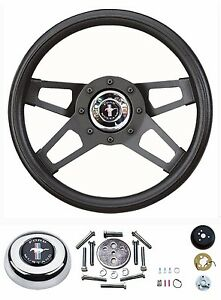 65 66 67 68 69 70 71 72 73 Mustang Black Challenger I Steering Wheel 13 5 Kit