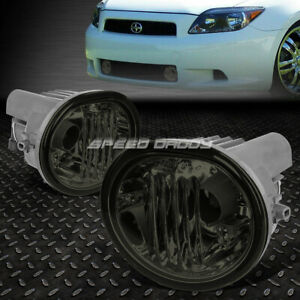 For 05 10 Scion Tc Glass Smoked Lens Oe Bumper Driving Fog Light Lamp Pair Set