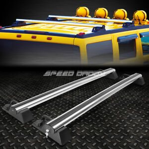 For 03 09 Hummer H2 Suv truck Aluminum Oe Style Roof Rack rail Top Crossbar lock
