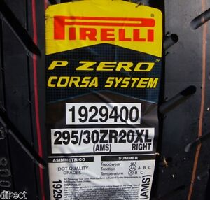 New Pirelli P Zero Pzero Corsa System Right 295 30r20 295 30zr20 295 30 20 Tire