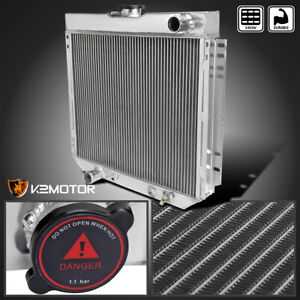 Fit 1969 1970 Ford Mustang Falcon 3 Core Row 20 Driver Side Aluminum Radiator L