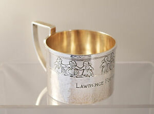 Arts Crafts 1920 Marshall Field Sterling Silver Hammered Child S Mug Cup