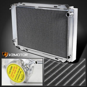 1979 1993 Ford Mustang 3 Core Mt Aluminum Cooling Radiator