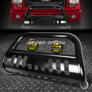 Black 3 Bull Bar Grille Guard Yellow Fog Light For 11 16 Ford Explorer U502 Cuv