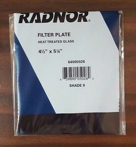 Case Of 100 Radnor Shade 9 Heat Treated Glass Filter Plate Rad64005026 Free Ship