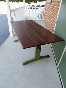 Farm Table Dining Room Table 6ft Farmhouse Kitchen Trestle Table Primitive