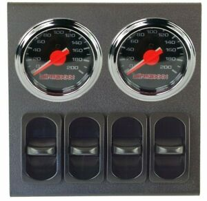 2 Dual Needle Air Gauges 200psi Display Panel 4 Paddle Switches Air Suspension
