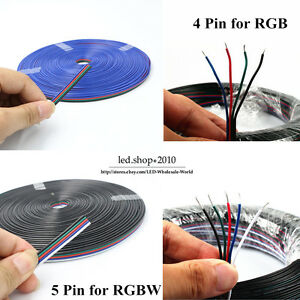 4pin 5pin Channels Cables 22awg Smd 5050 3528 Rgb Extension Electric Cable