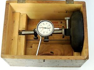 Rare Antique Starrett Dial Bench Gage No 654 Indicator No 25 b In Wood Case