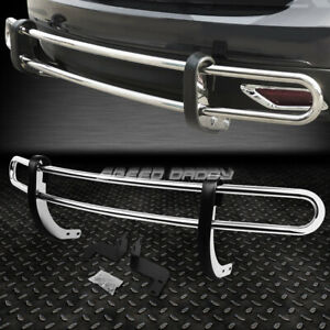 For 08 15 Nissan Rogue Stainless Steel Double Bar Rear Bumper Protector Guard