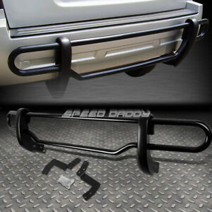 For 05 12 Nissan Pathfinder Black Coated Double bar Rear Bumper Protector Guard