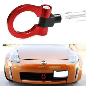 Sports Red Track Racing Style Aluminum Tow Hook Ring For 2003 2004 Nissan 350z