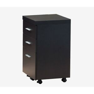 Monarch Specialties Filing Cabinet 3 Drawer Cappuccino On Castors I7013