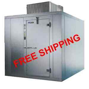 8x10 Self Contained Outdoor Walk In Cooler Refrigerator Free Shipping